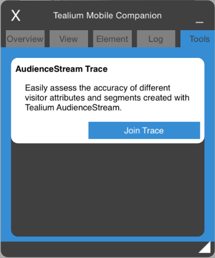 Go to 'Tools' and then 'Join Trace'