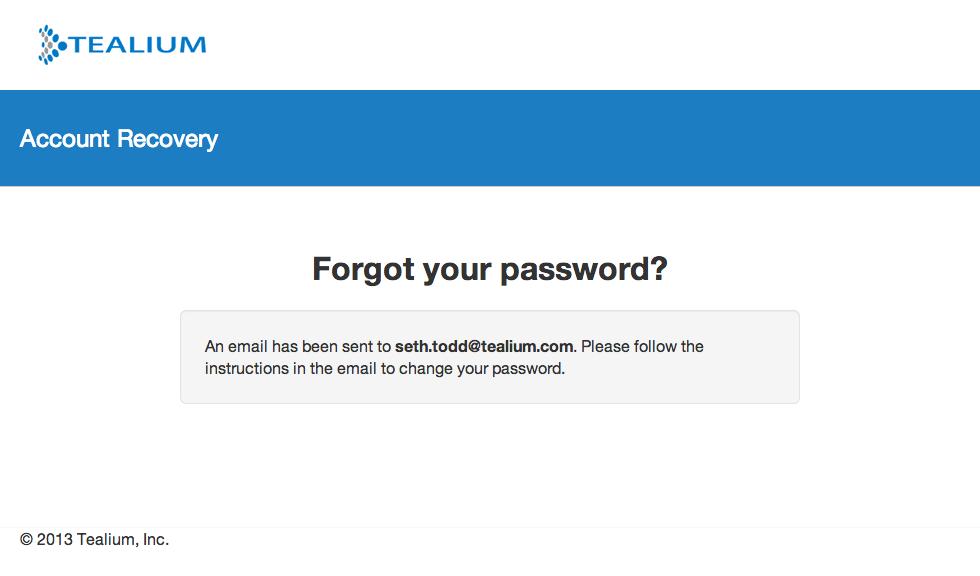 How do I reset my Tealium password? - Tealium Learning Community