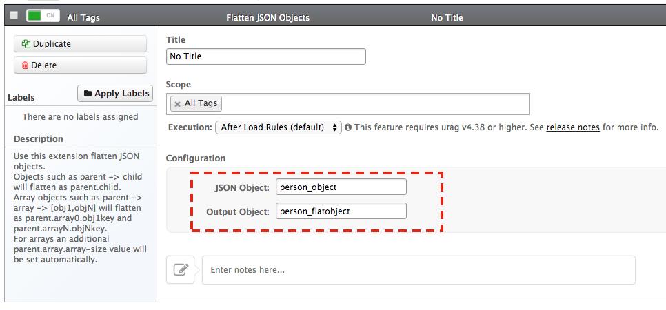 Flatten JSON Objects Extension - Tealium Learning Center