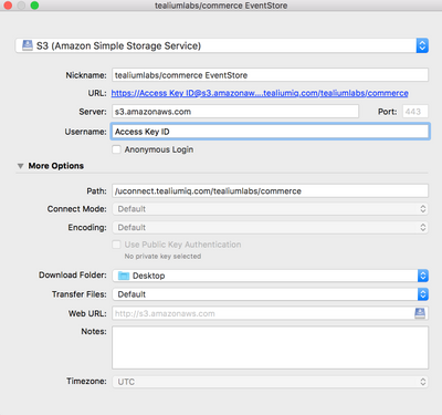Managed S3 for Events (formerly EventStore) - Log File Retrieval