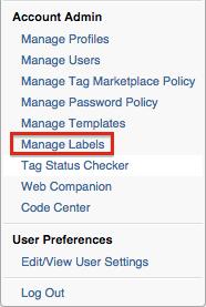 Manage Labels Admin Option
