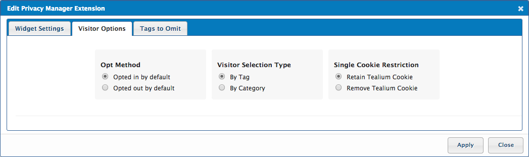Visitor Options
