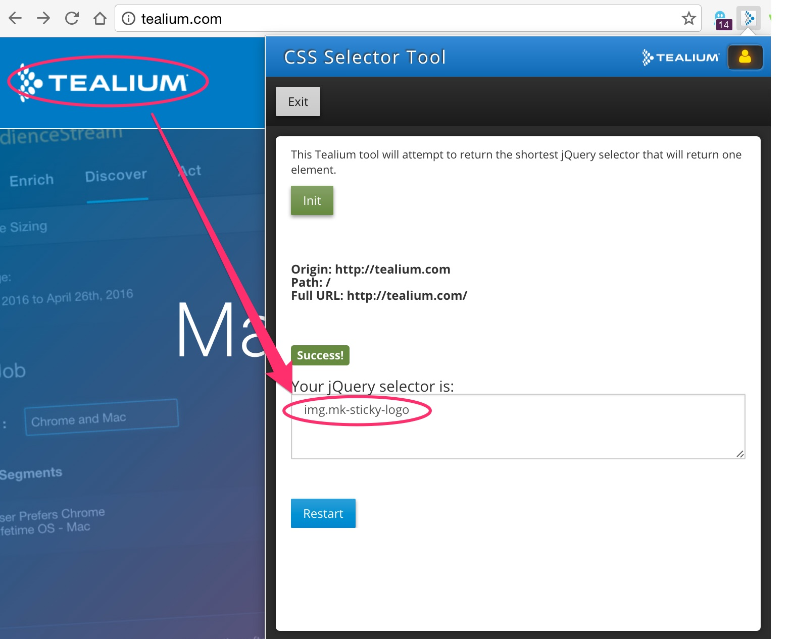 CSS Selector Tool (for use with jQuery Extensions) - Tealium