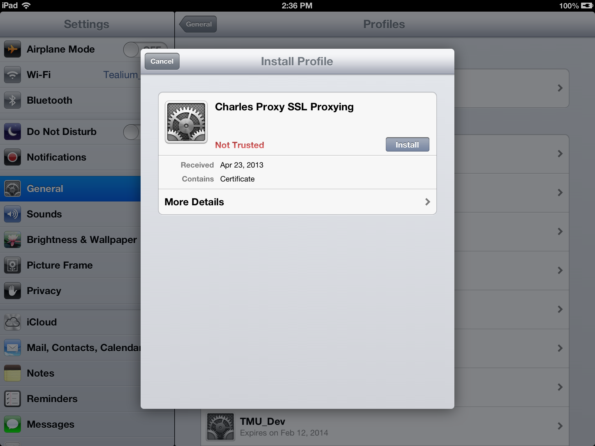 Setting Up Charles 37 To Proxy Your Ios Device Tealium Learning