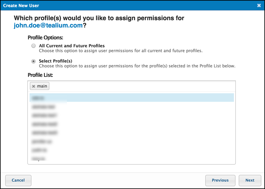TiQ User Permissions Create New User Select from Profile LIst.png