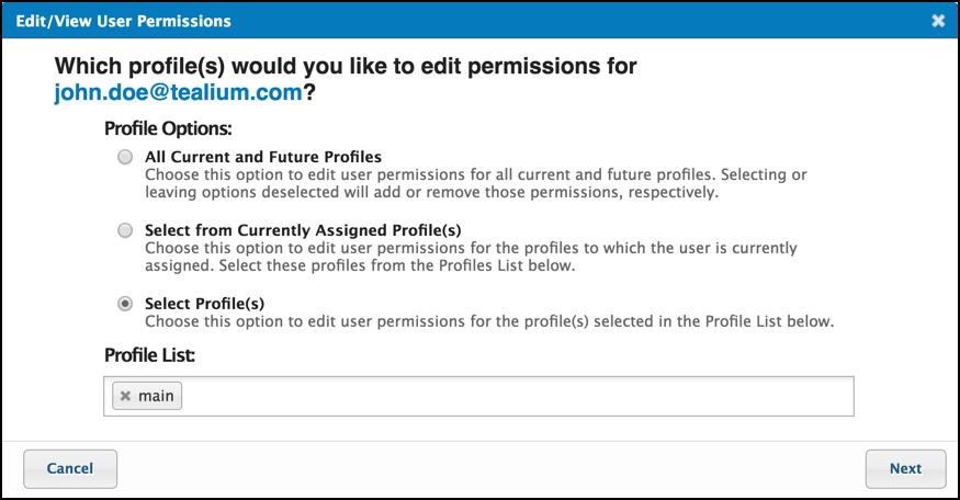 TiQ User Permissions Edit View User Permissions John Doe User.png
