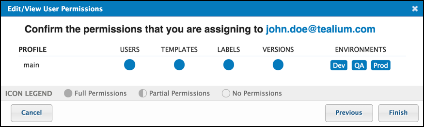 TiQ User Permissions Edit Confirm and Save User Permissions John Doe User.png