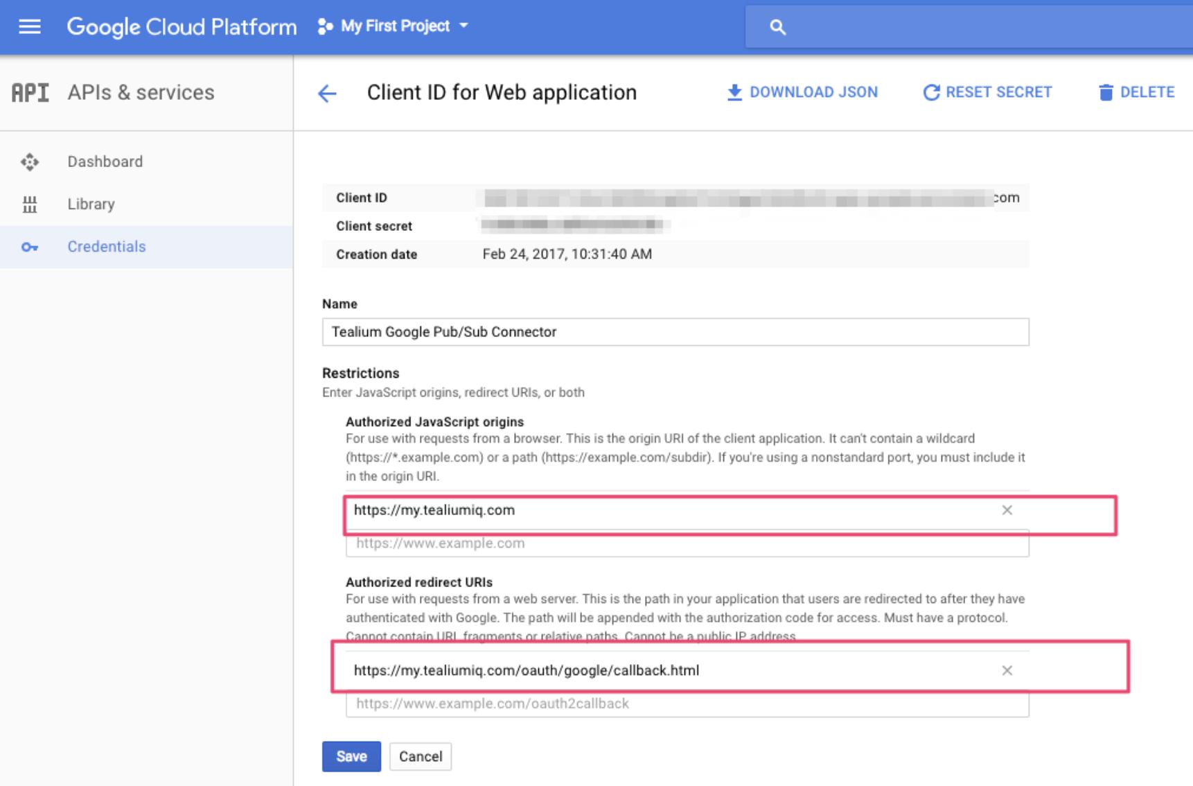 Google Cloud Pub/Sub Connector Setup Guide - Tealium Learning Center