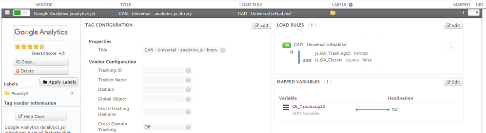 Tag Mapping Configuration