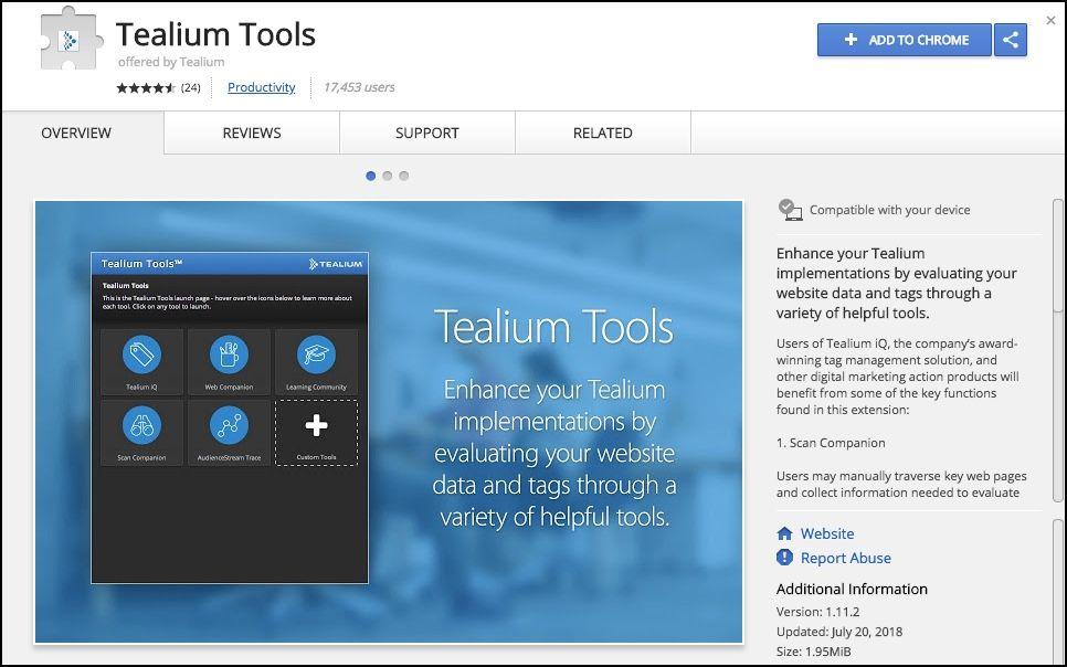 Tealium Tools Browser Extension