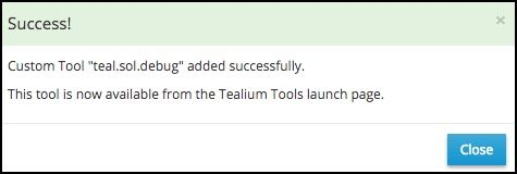 Tealium Tools Extension_Add Custom Tool_Success Message.jpg