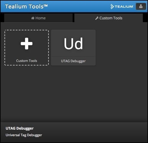 Tealium Tools Extension_Add Custom Tool_UTAG Debugger Tool Available for Use.jpg