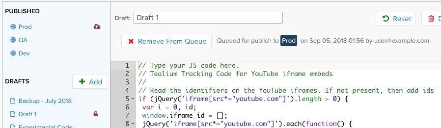 JavaScript Code Extension - Tealium Learning Center