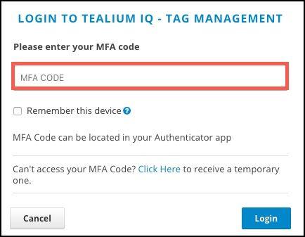 Multi-Factor Authentication (MFA)