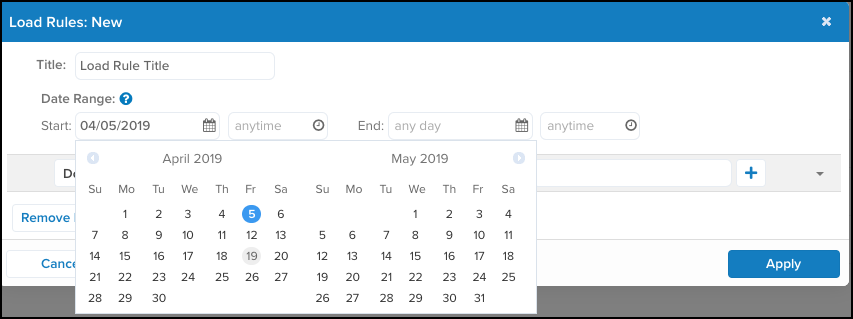 WhiteUI_TiQ_Add Load Rule_Select Start Date from Calendar.png