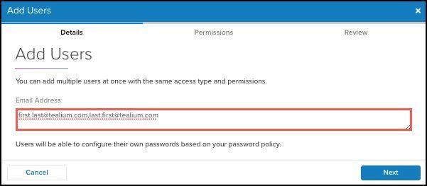 WhiteUI_Managing User Permissions in UDH_Add Users_Enter Email Addresses.jpg