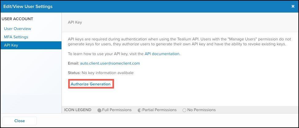 WhiteUI_TiQ_Managing and Generating API Keys_Authorize Generation.jpg