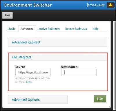 Tealium Tools_Environment Switcher_Advanced Tab_URL Redirect.jpg