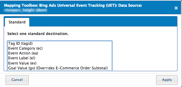 Bing Ads Universal Event Tracking (UET) Tag: Basic    - Tealium